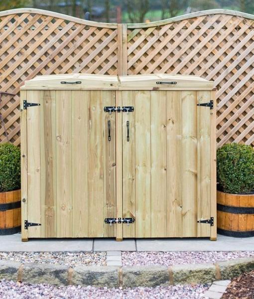 Double Wheelie Bin Storage Unit