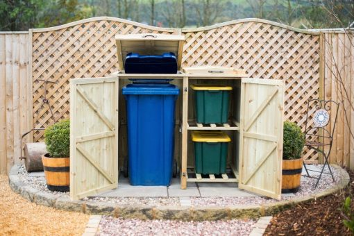 Wheelie Bin Plus Recycle Box Storage Cover
