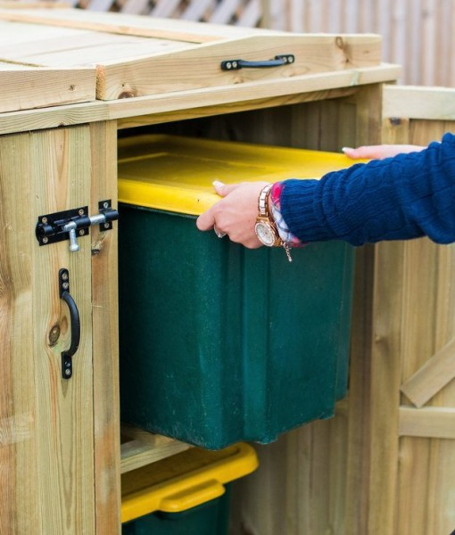 Closeup Recycle Bin Storage