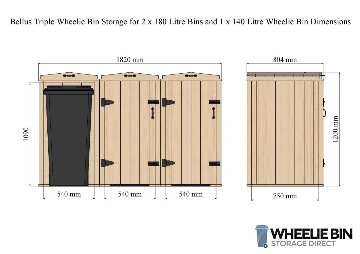 sc 1 st  Wheelie Bin Storage & Bellus Triple Wheelie Bin Storage Chest - WheelieBinStorageDirect.co.uk