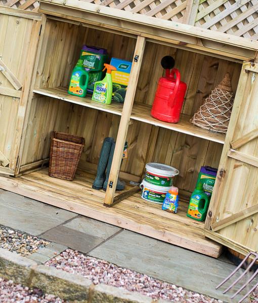 Inside Utilis Garden Storage