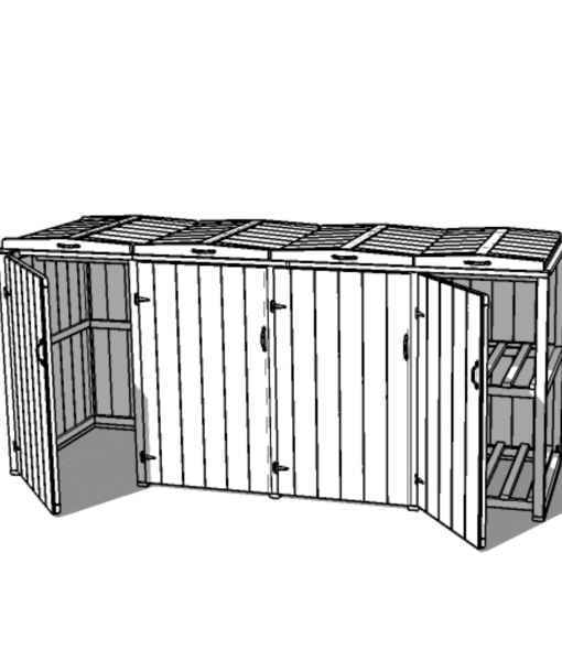 Bellus 3 Bin and 2 Box Store
