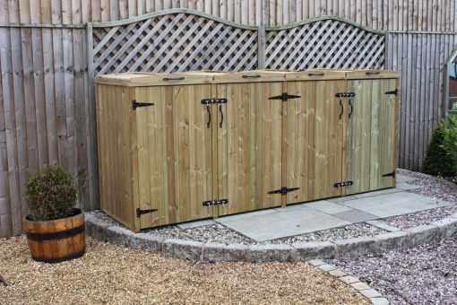 Bellus Storage for 4 Wheelie Bins