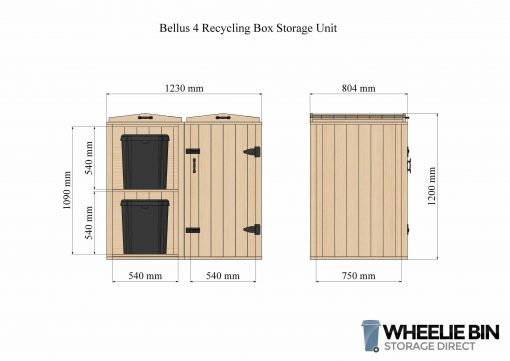 Bellus 4 Recycling Box Storage