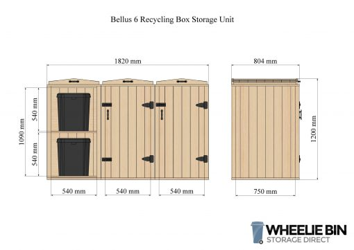 Bellus 6 Recycling Box Storage Unit