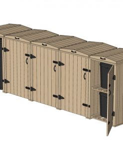 Bellus Quad Bin and 2 Recycling Box Storage