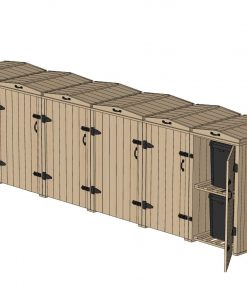 Bellus 4 Wheelie Bin and 4 Recycling Box Storage