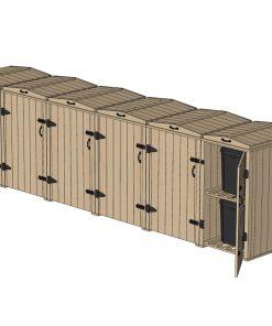 Bellus 5 Wheelie Bin and 2 Recycling Box Storage