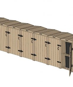 Bellus 5 Wheelie Bin and 4 Recycling Box Storage